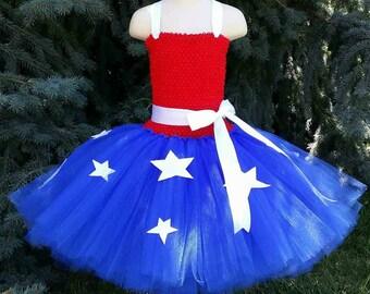 Customizable Fourth Of July Tutu Dress, 4th Of July Tutu Dress, Memorial Day Tutu Dress, American Tutu Dress, Red White Blue Tutu Dress