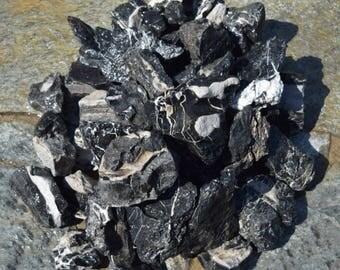 BLACK SEIRYU STONE great aquarium decor or Bonsai stones