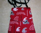 "UW Huskies and WSU Cougars cross body shoulder strap purse- ""Bulisa"""