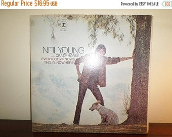 Save 30% Today Vintage 1969 Vinyl LP Record Neil Young Everybody Knows This is Nowhere Very Good Condition 11232