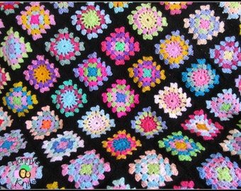 Crochet Granny Square 'Cuddle Blanket'  100 x 100 cm