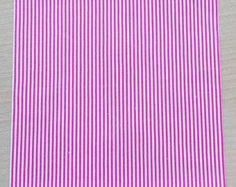 Fabric adhesive pattern: striped fuchsia 210 x 290 mm (A4)