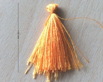 beautiful tassel charm / tassel fringe in cadmium yellow nylon