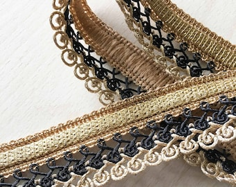 pretty lace lace twisted black gold 35 mm