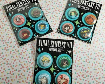 Fanart - Final fantasy VII button packs