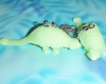 Set of Two ~ Glow-in-the-Dark Dinosaurs S-2 ~ Ceiling Fan Pull Chains