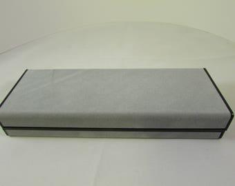 Grey Felt Pen Box with Black Trim finish --For smaller Pens