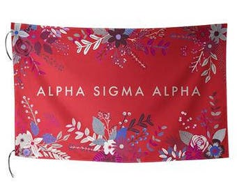 Sublimated Floral Sorority Flag