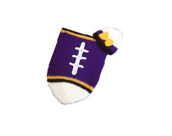 Baltimore Fan Favorite Baby Girl Football Cocoon & Hat (Newborn to 3 months)
