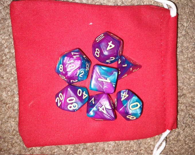 Fae Smoothie - 7 Die Polyhedral Set with Pouch