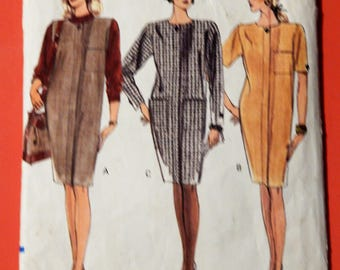 Vogue 7961 Very easy to sew dress and jumper pattern Sizes 8, 10 and 12