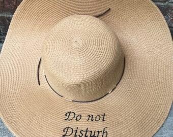 Beach hat, floppy hat, timeout hat, do not disturb hat, mommy hat, sun hat, wide brim hat