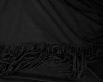 Halloween Costume Fabric Fringed Suede Cloth Fabric Black From Archer