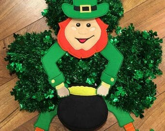 LARGE Padded Feltie Leprechaun - St. Patrick's Day - St. Patty's SET - 4 x 4, 5 x 7 and 6 x 10 Included  - DIGITAL Embroidery Design