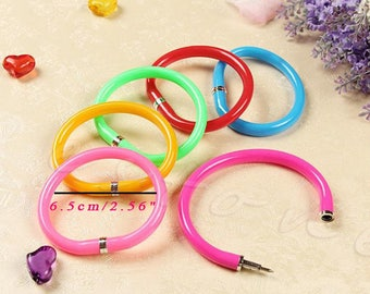 X 1 Purple rubber pen kawaii Bracelet