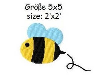 Embroidery Design Bee 2'x2' - DIGITAL DOWNLOAD PRODUCT
