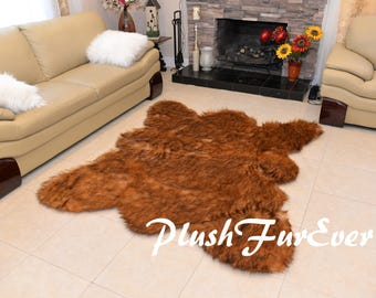 Faux Fur Rugs Throws Sheepskins Mongolian SC Love by PlushFurever