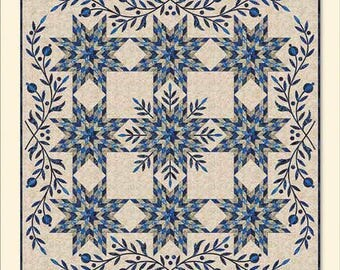 Snowflake Applique Quilt Pattern - Edyta Sitar - Laundry Basket Quilts - LBQ 0291