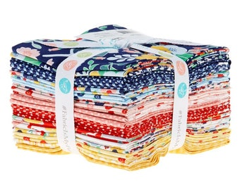 Midnight Blooms Fat Quarter Bundle by Shari Butler of doohikey designs for Riley Blake Designs