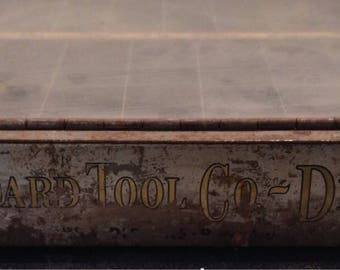 Circa 1900, Antique Standard Tool Co., hardware store, drill bit display