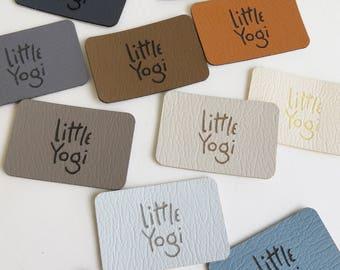 50 - 1 x 1.5 Custom Knitting Tags - Ultraleather - Ultraleather Knitting Tags