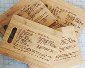 Personalized Family Recipe Cutting Board 9x6 - Custom Engraved Recipe Board - Handwitten Grandmas Recipe Board - Engraved Handwriting Board