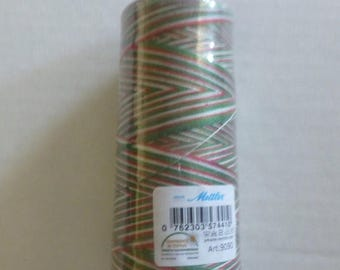 Anniversary Sale Mettler~Silk Finish Variegated 50wt Cotton Thread 1500yd/1372M Seasons Greetings # 9090-9825,TH180 Fast Shipping