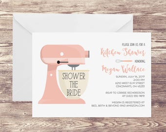 kitchen party invitation cards design. Printed Kitchen Bridal Shower Invitation  for with shower Etsy