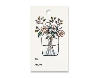 Flower Gift Tags - Pack of 10