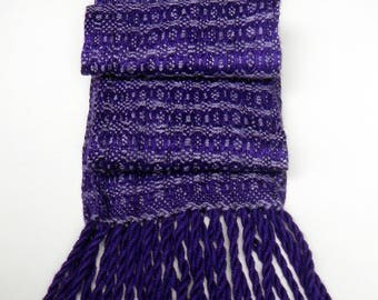 Purple scarf bamboo scarf handwoven 5 by 72 inches