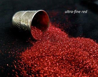 glitter - red ultra-fine polyester