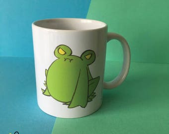 Floris the Frog Mug   cup drinks tea coffee sleepy grumpy