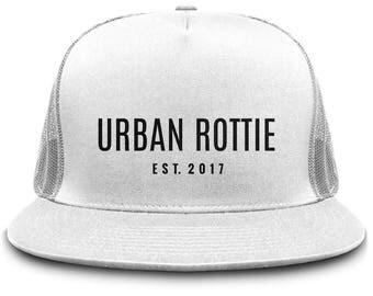 Urban Rottie Snapback, Urban Outfitters, Snapback Hats, White Snapback, Branded Snapback, Cool, Trending, Popular, Streetwear, Hats,