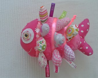 Plush pink fish - fish Rosie