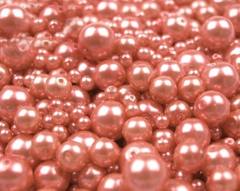 A28 - 100 g of 4-12 mm glass pearl beads different sizes