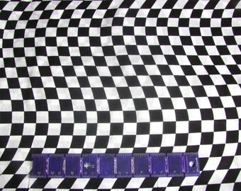WAVY black and white racing checks by MDG, made in the USA