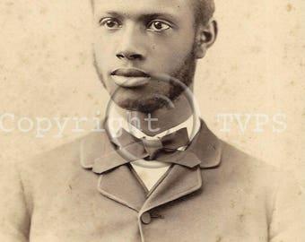 African American Dapper Man Cabinet Photograph