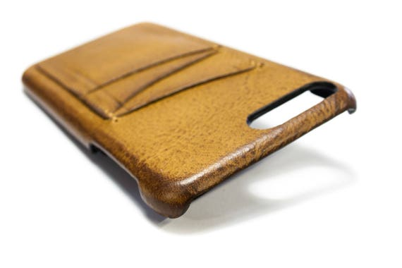 """UNIVERSAL iPhone case 8 7 and 6S/6 Plus 5.5"""" Italian Leather Case 3 credit cards holder vertical Slots choose color of BODY and ACCENT"""