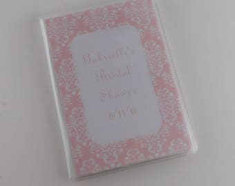 Wedding Photo Album Baby Girl Bridal Shower Anniversary Grandmas Brag Book 4x6 or 5x7 Pictures Pink Blush Damask 766