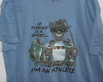If Fishing is a Sport I'm an Athlete, Men's Fishing Humor T-Shirt