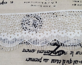 1 Yard- Off white Embroidered Venice Lace/NV243- Netting Lace/ Venice Lace/Lashes Lace