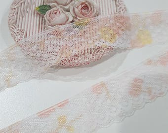 1 Yard- Slim Lace Trim/ NT141- Slim Fancy Trim/ Lace Trim/Delicate Lace/