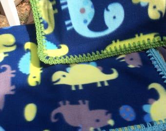 Dinosaur Baby Fleece Blanket