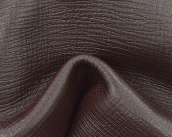 "Umber Wood Brown Leather Cow Hide 8"" x 10"" Pre-cut 4 oz Shark Embossed TA-57941 (Sec. 3,Shelf 2,B)"