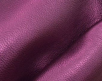 "Metallic Perfect Purple Leather Cow Hide 8"" x 10"" Pre-cut 4-5oz pebble grain DE-66249 (Sec. 4,Shelf 5,A)"
