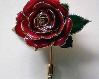 Rose Flower Stick Pin - 5418