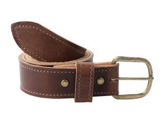Handmade Leather Belt | Horween Chromexcel | Dark Brown