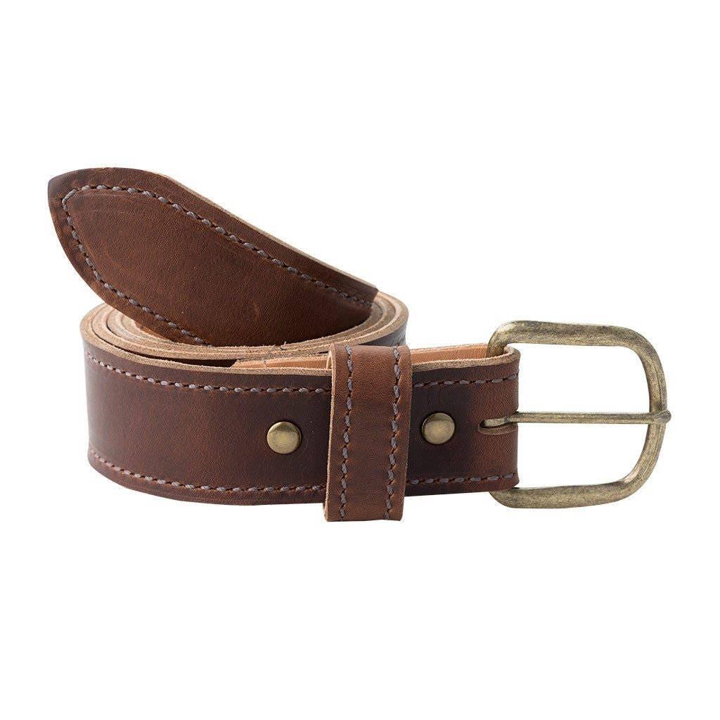 handmade leather belt horween chromexcel brown