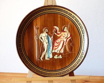 Greek Ceramic Plate, Decorative Plate, Greek Ceramic Art, Pottery Plate, Ceramic Kitchen Plate, Collectible Plate, Display Plate, Wall Plate