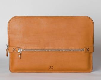 Macbook pro case/ Laptop sleeve / leather laptop bag /Macbook air 13 case/macbook pro 13 case/leather satchel/leather briefcase/ leather bag